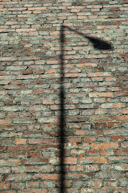 Shadow on brick wall, Tampele 2013
