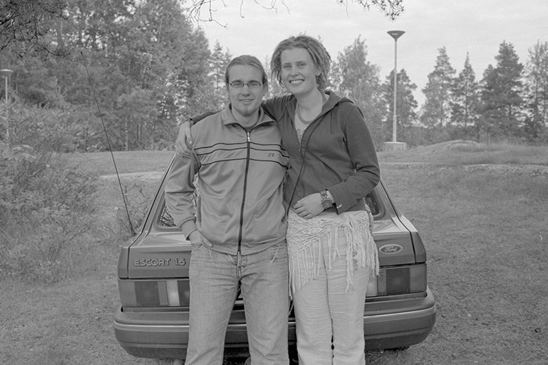 vesa and his girlfriend 2004 Finland